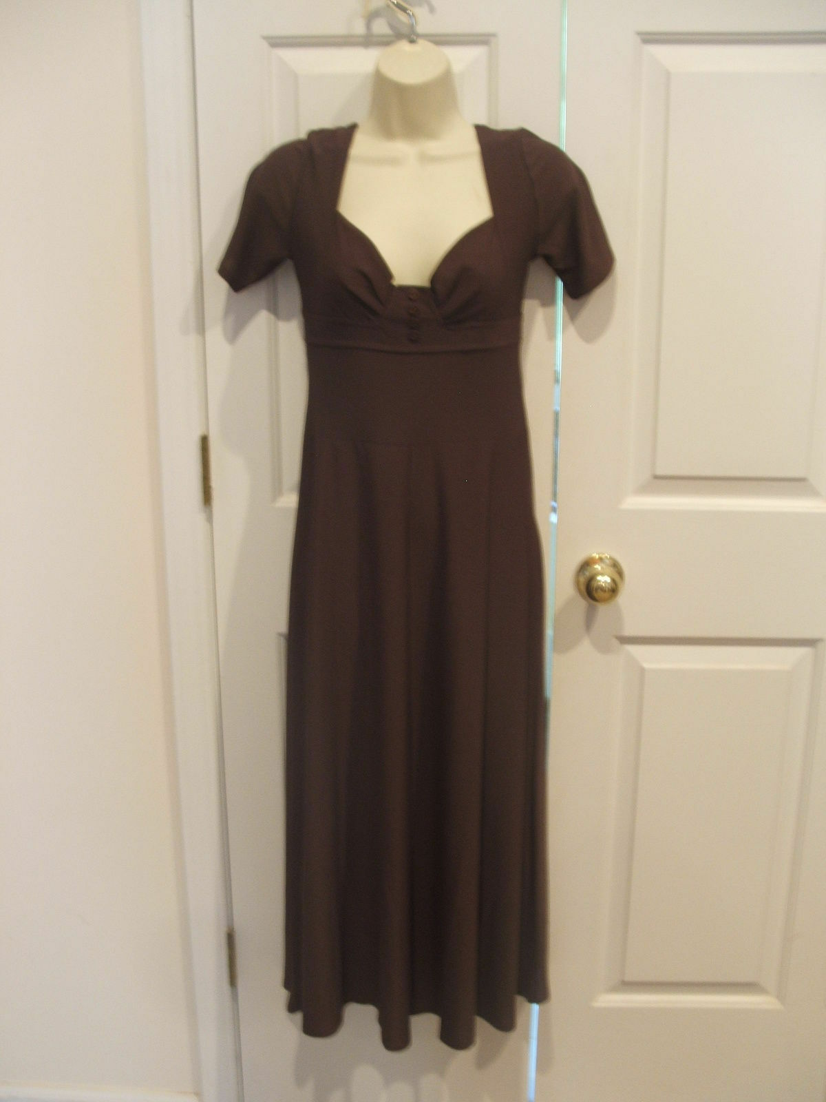 NEW in pkg brown Ocassion maxi Dress size 4