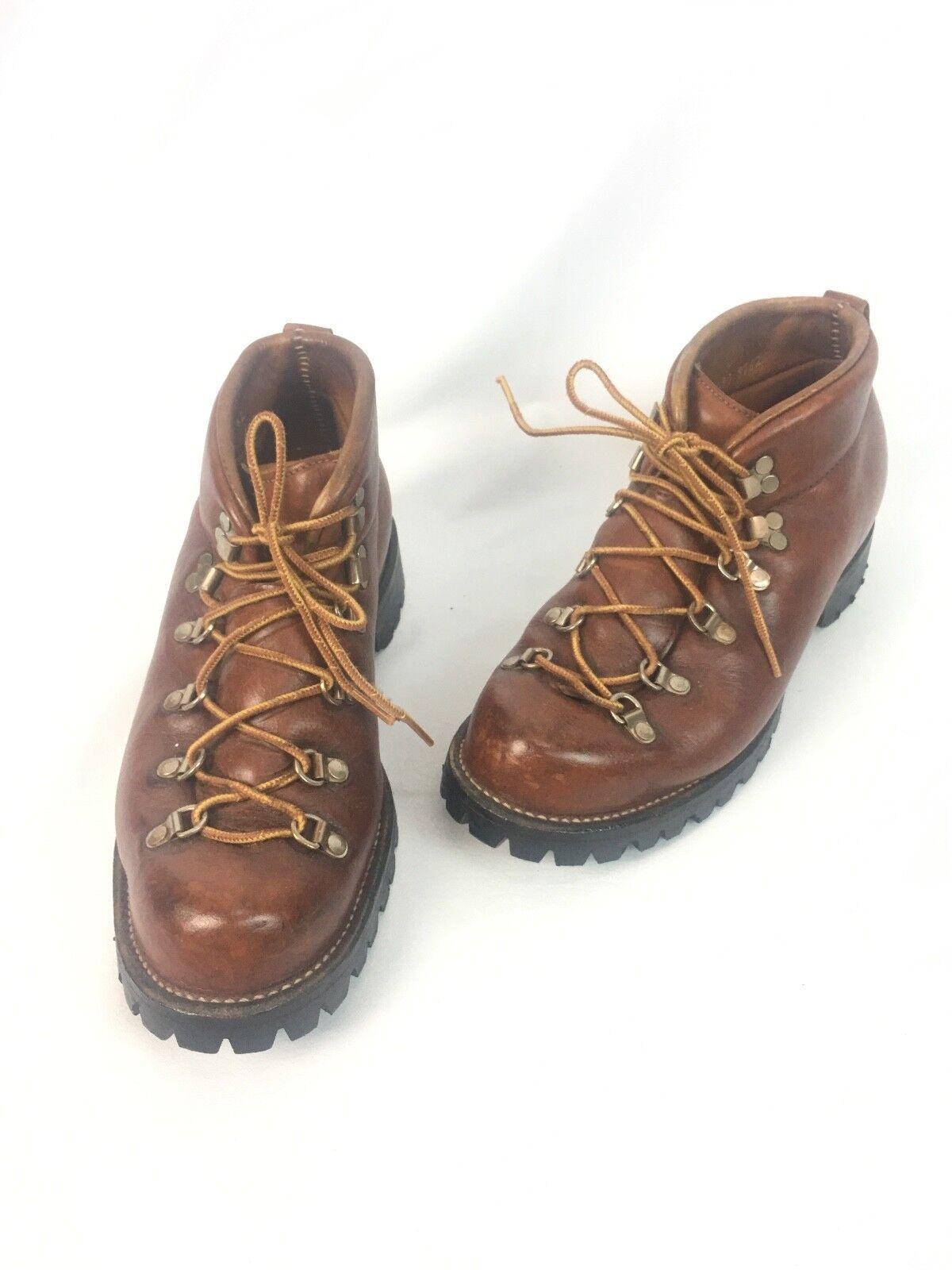 * Danner * Uomo Vintage Mountain Pelle Hiking Stivali marrone 8.5 D US / 42-43 EU