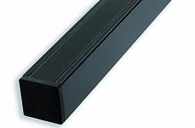 anthrazit pulverbes 68x68x2720 mm Aluminium Pfosten mit innenliegendem Holzkern