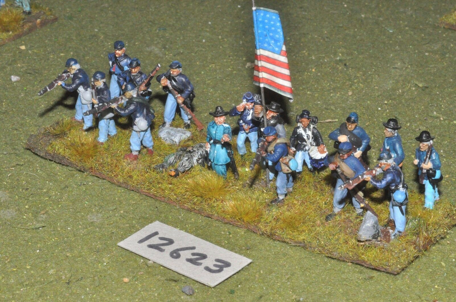 25mm ACW     union - american civil war infantry plastic 16 figs - inf (12623) 375261