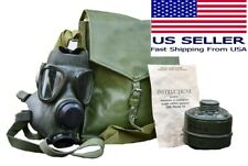 Military Tactical Full Face Gas Mask Respirator M74 W 40mm Filter Amp Carry Bag