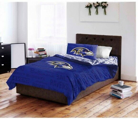 Baltimore Ravens Bedding Sheet Comforter Set Complete NFL Bed in a Bag Twin Größe
