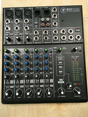 Mackie 802VLZ4 8-Channel Analog Low-Noise Mixer w// 3 ONYX Preamps+Free Speaker