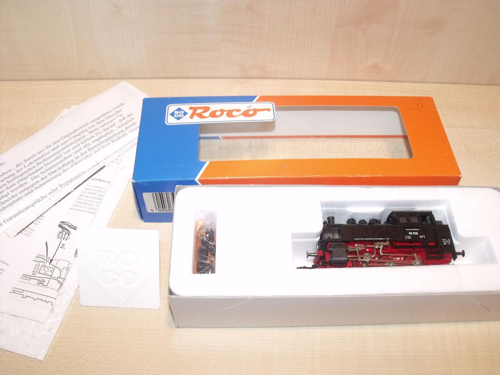 103) ROCO - DAMPFLOK DAMPFLOK DAMPFLOK BR 80 038 DIGITAL m. MotGoldla - OK  | Neue Produkte im Jahr 2019  68c83f