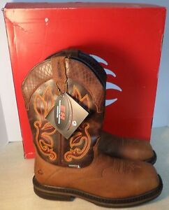 6002bbacb83 WOLVERINE 10508 MEN'S ROSCOE STEEL SQUARE TOE WESTERN BOOTS NEW IN ...