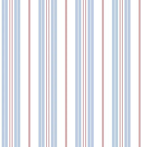 Deauville 2 Striped Blue White Red Galerie Wallpaper G23065
