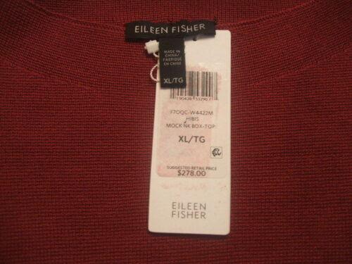 Hibiscus aus Seide Fisher Mock Box Interlock Eileen Baumwolle Org mit Neck Xl Top qxfZwy6gE