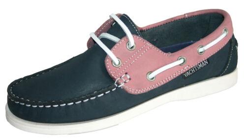 Womens  Seafarer Yachtsman Nubuck Leather Boat Deck Shoes  Sizes 4-8
