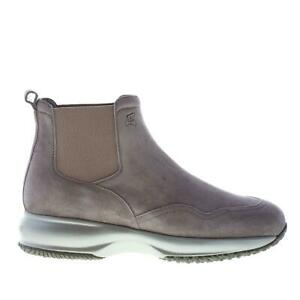 HOGAN-scarpe-donna-women-shoes-Stivaletto-Interactive-chelsea-camoscio-catrame