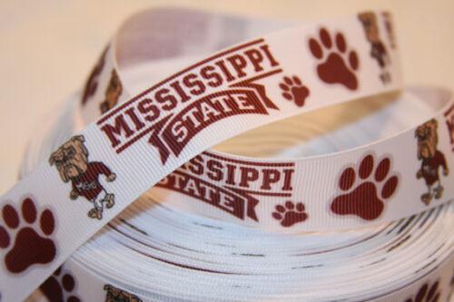 "USA Seller Mississippi inspired 1/"" Grosgrain Ribbon By The Yard"