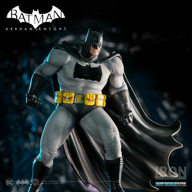 Batuomo Arkham Dark Knight 1 10 DLC Series (Frank Miller) Iron Studios Sidemostrare