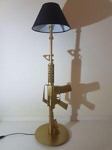 LAMPE-DESIGN-M4-OR-AR15-M16-chevet-bureau-table-salon-lamp-light-army-deco-gold