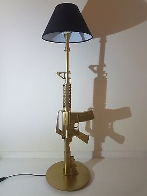 LAMPE DESIGN M4 OR (AR15 M16 chevet bureau table salon lamp ...