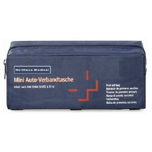 Holthaus-Mini-Verbandtasche-Verbandtasche-Auto-KFZ-DIN13164-Verbandskasten-Klett