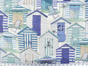 Drapery Upholstery Fabric Indoor Outdoor Beach House Novelty Print