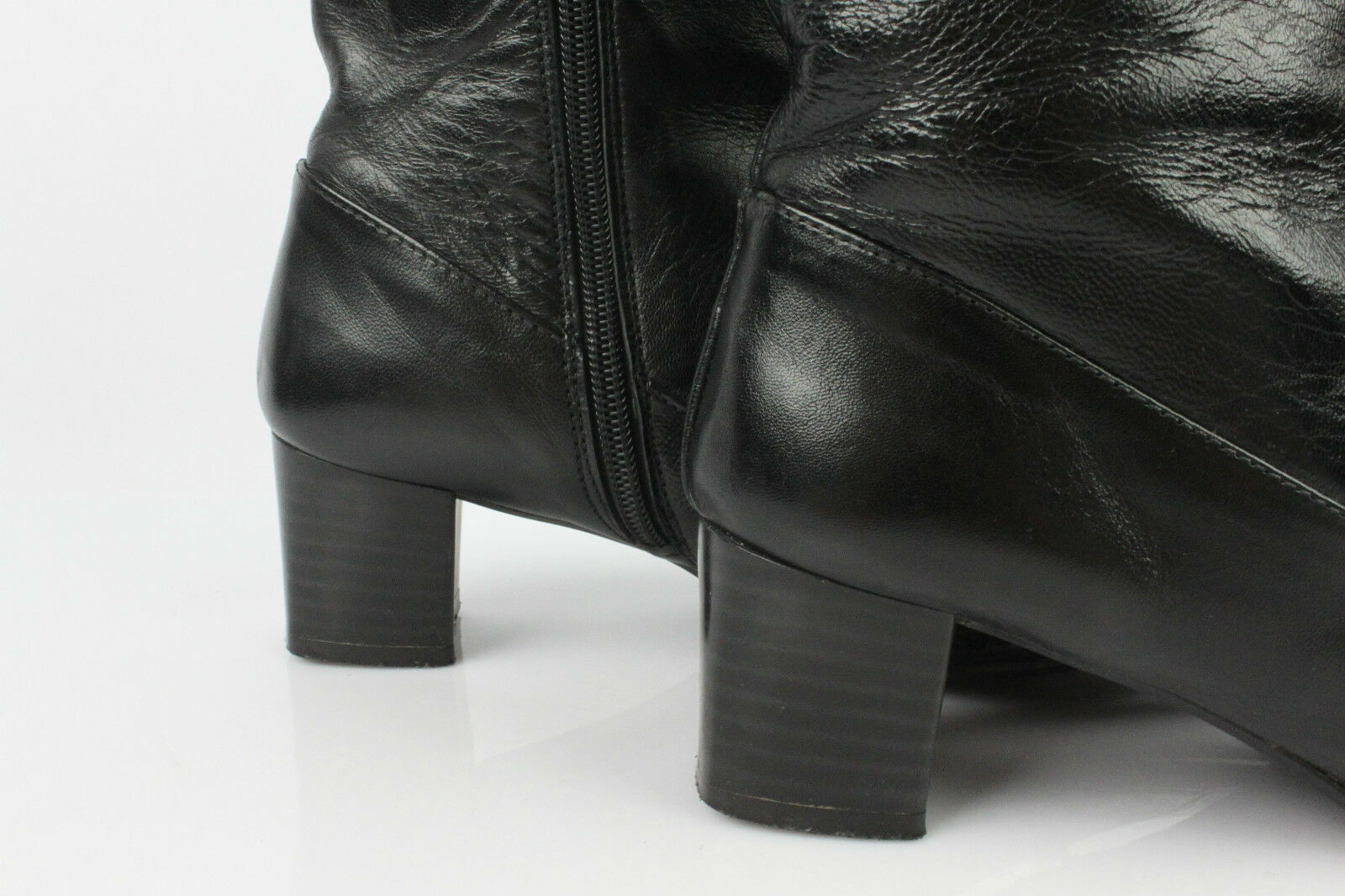 Boots SAN MARINA Black Leather T 38 VERY GOOD CONDITION