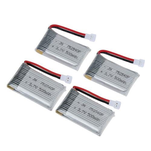 4 pack 3.7V 500mAh Lithium Battery For Syma X5SC X5SW X5C-1 X5SC-1 RC Quadcopter