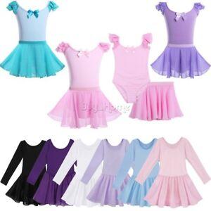 b21c1486b56e Kids Toddler Girls Gymnastics Ballet Dress Tutu Skirt Leotard ...