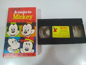 Lo-Mejor-de-Mickey-Walt-Disney-VHS-Cinta-Tape-Espanol