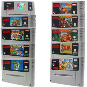 Super-Nintendo-Mario-World-Zelda-Mario-Kart-juegos-SNES-Donkey-Kong-1-2-3