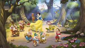 Image Is Loading Snow White And The Seven Dwarfs Wall Mural  Part 22