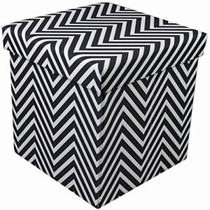 Phenomenal Details About Sorbus Chevron Foldable Collapsible Storage Ottoman Cube Chevron Black Gmtry Best Dining Table And Chair Ideas Images Gmtryco
