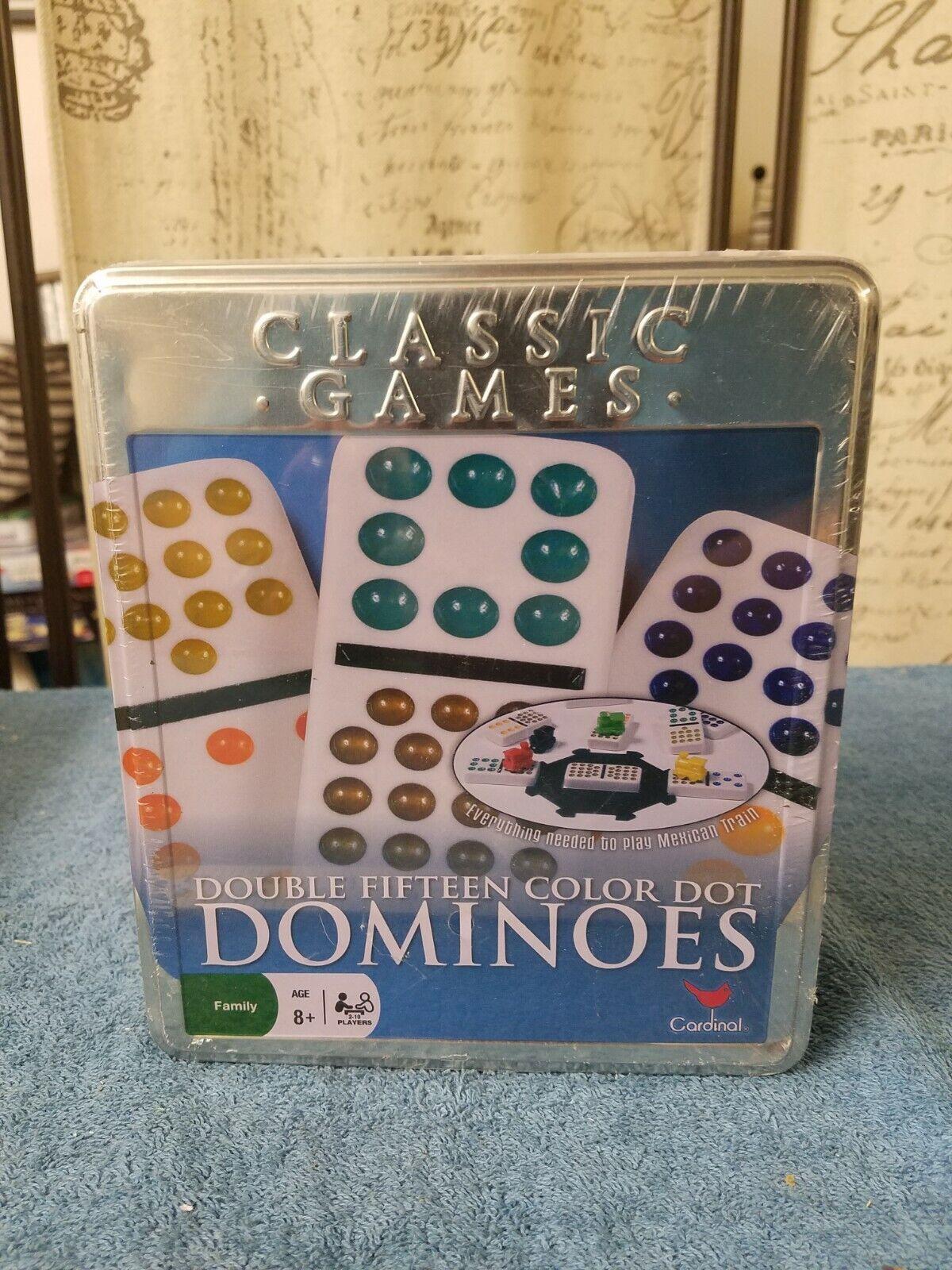 "Cardinal premiere Double Fifteen Jumbo Color Dot  Domino Tile 1x2x3//8"" Pick 1 Pc"