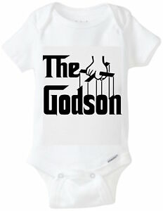 718ac434c Image is loading The-Godson-Godfather-GodParent-Gerber-Onesie-Funny-Baby-