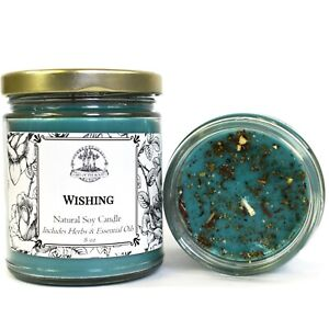 Wishing Soy Spell Candle Blessings Wishes Desires Goals Hoodoo Wiccan Pagan