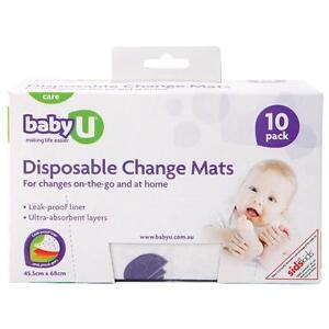 HOT-DEAL-gt-gt-BABY-U-DISPOSABLE-CHANGE-MAT-10-PACK-x-8-boxes-BULK-BUY