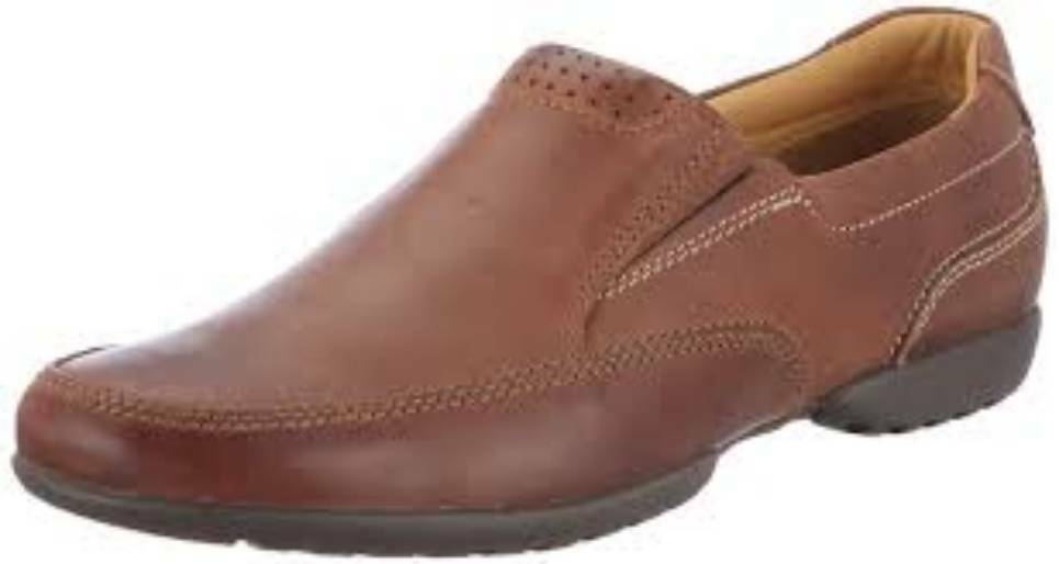 Clarks Mens Casual Slip-on Shoe RECLINE FREE Tan Leather UK 10 / 44.5 Wide