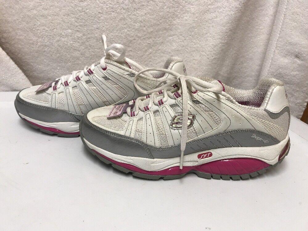 Womens Skechers Shape-ups Kinetix Response SRT White Purple Size US US US 8 ba6d65