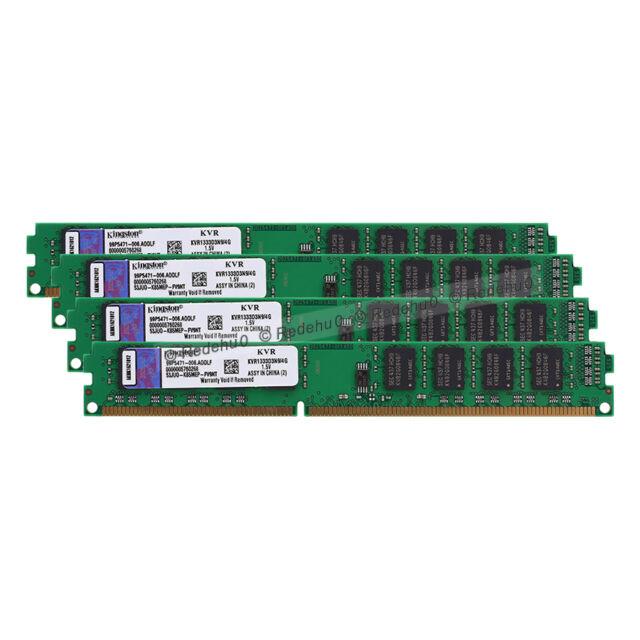 16GB 4X4GB PC3-10600 DDR3 1333MHz CL9 240Pin DIMM KVR1333D3N9/4G SDRAM