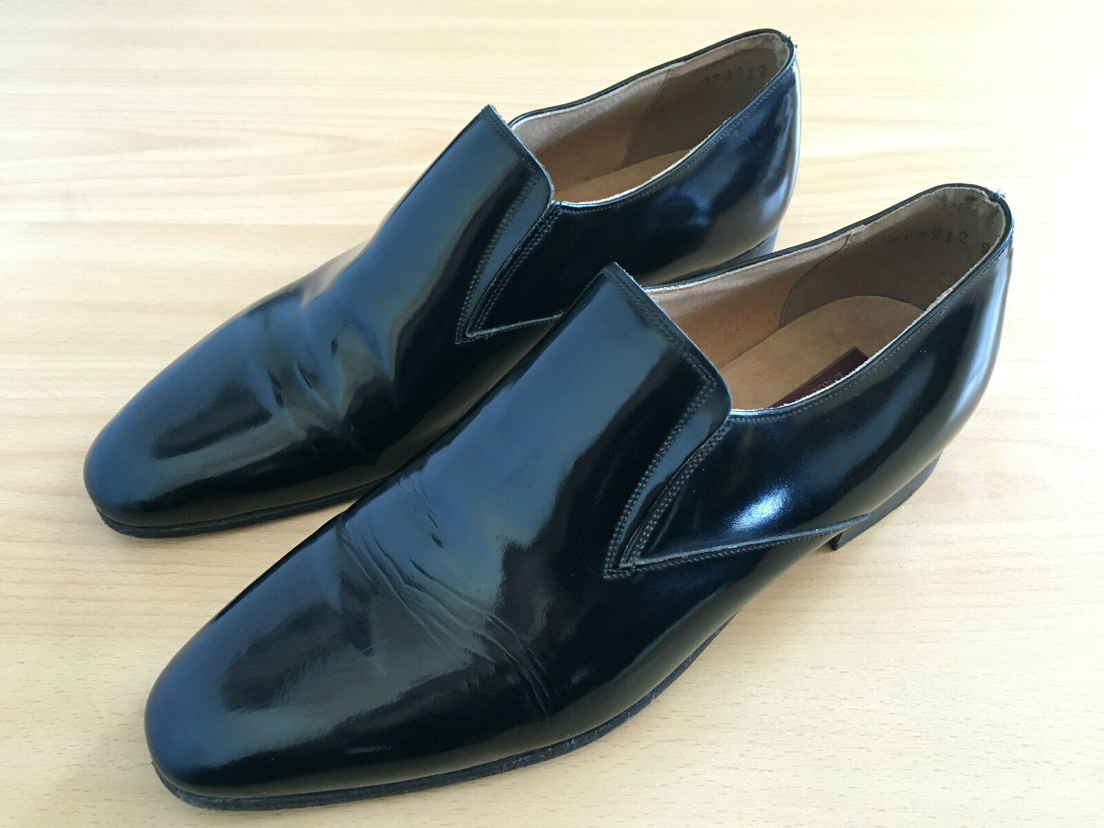 Mocassins Mocassins Mocassins Cuir Vernis - Patent Loafers Slip-on 9.5US - Made in France - Rare 4dbc32
