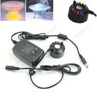 Ultrasonic 12-LED Mist Maker Fogger Water Fountain Pond New