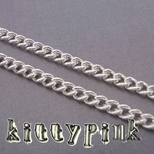 10 Metres Silver Plated Curb Jewellery Chain 3 x 2mm NICKEL FREE WHOLESALE BULK