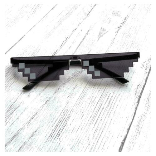 Thug Life Deal with it Sunglasses 8 bit Pixelated Novelty Gamer Pixel Glasses