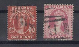 C2663-BRITISH-BAHAMAS-VICTORIA-SG-41-42-USED-CV-130