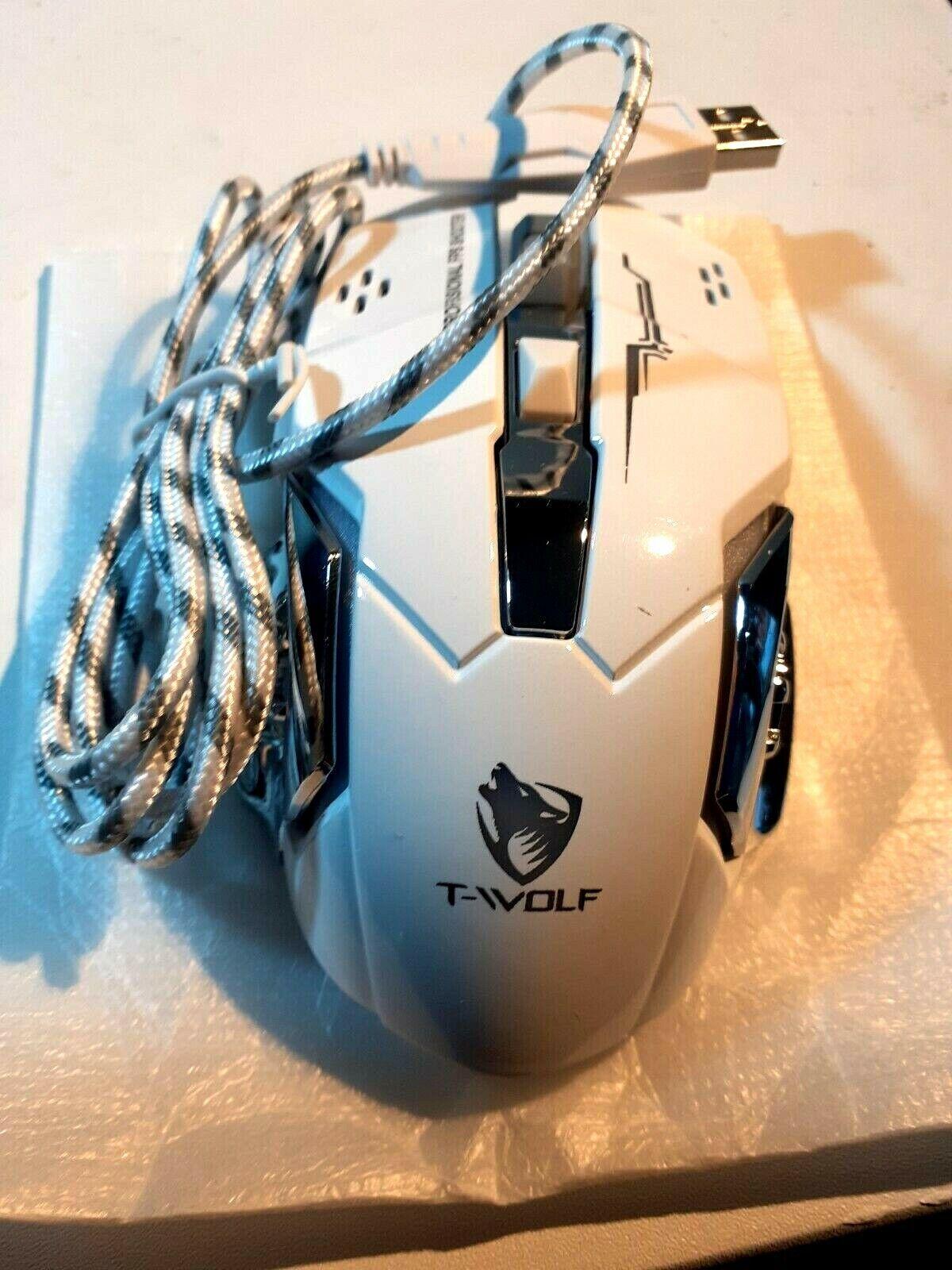 T-Wolf V6 Gaming Mouse - Back Lighting Eye for Style - 3200DPI
