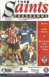 Southampton v Leeds United  Premiership  1995  Football Programme - <span itemprop=availableAtOrFrom>Sprotbrough, South Yorkshire, United Kingdom</span> - Southampton v Leeds United  Premiership  1995  Football Programme - Sprotbrough, South Yorkshire, United Kingdom