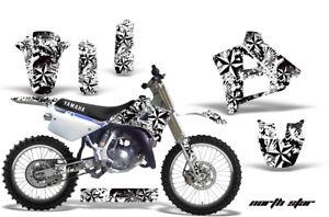 Dirt-Bike-Graphics-Kit-Decal-Sticker-Wrap-For-Yamaha-YZ125-YZ250-91-92-NSTAR-WHT