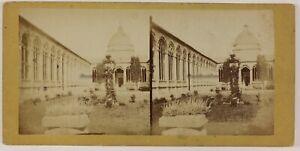 Pisa-Camposanto-Cimitero-Italia-Foto-PL52L3n2-Stereo-Vintage-Albumina-c1870