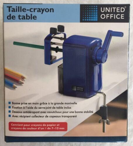 Taille crayon de table avec récipient collecteur