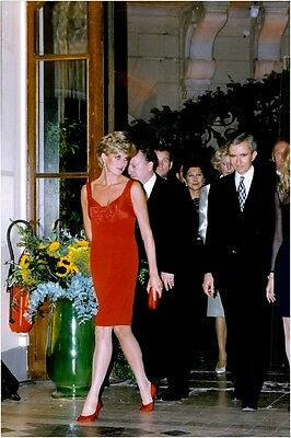 Vintage photo of Princess Diana at dinner at Petit Palais