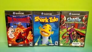 Disney-Shark-Tale-Incredibles-Charlie-Nintendo-GameCube-NGC-Tested-Game-Lot