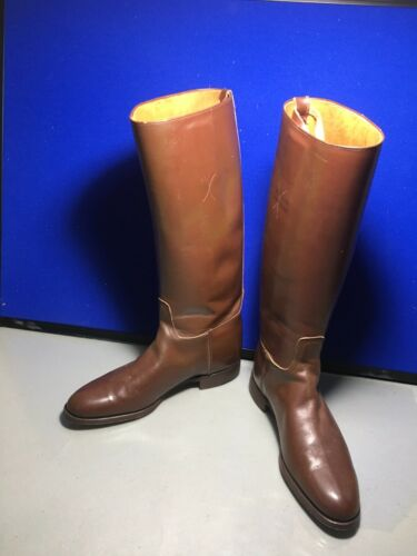Vintage Service Equestrian Brown Riding Boots - Wo