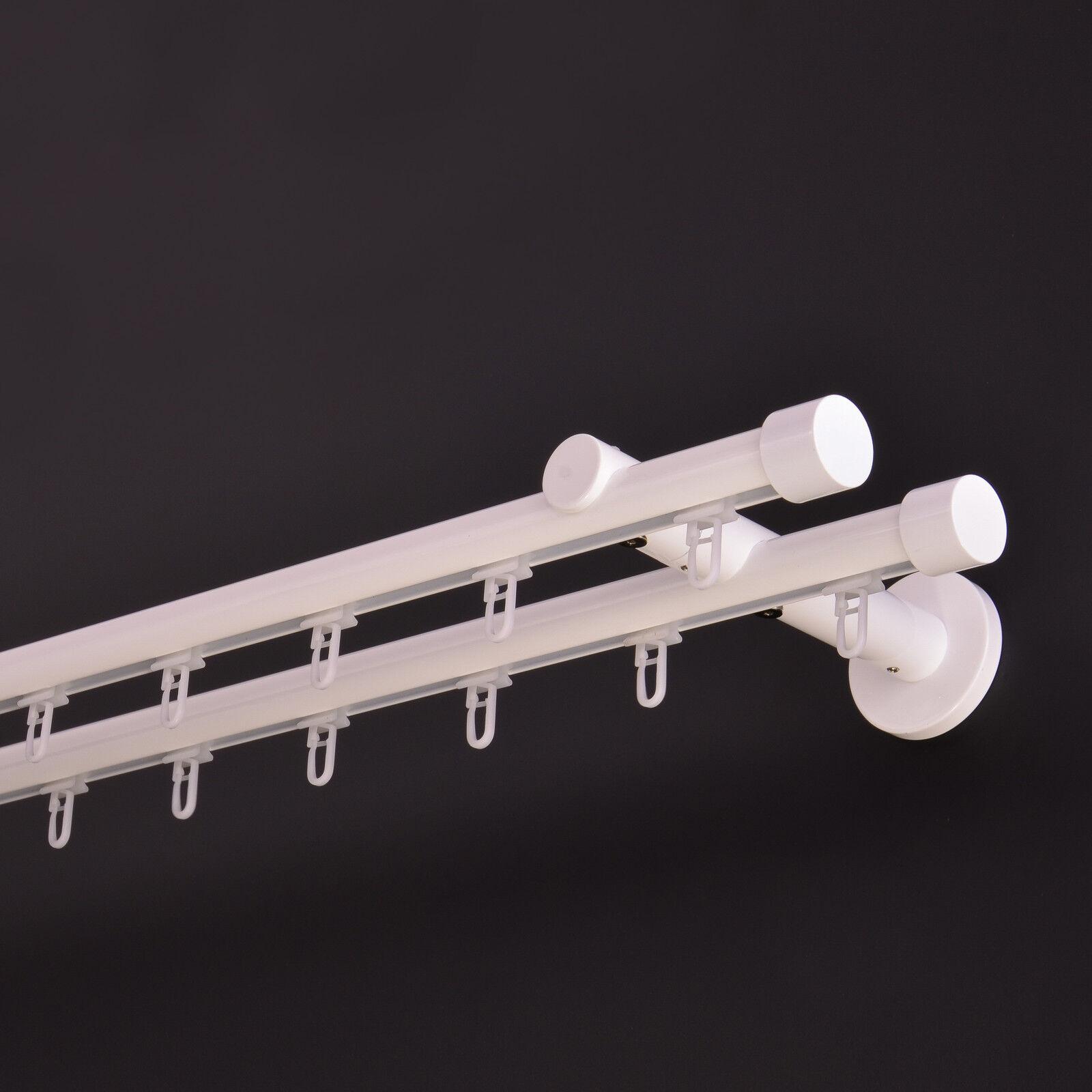 Innenlauf Gardinenstange 19mm 2-Läufig Weiß 120cm 120cm 120cm bis 600cm_IB25 a3fe03