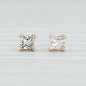 0-30ctw-Diamond-Solitaire-Stud-Earrings-14k-Yellow-Gold-Princess-Solitaires