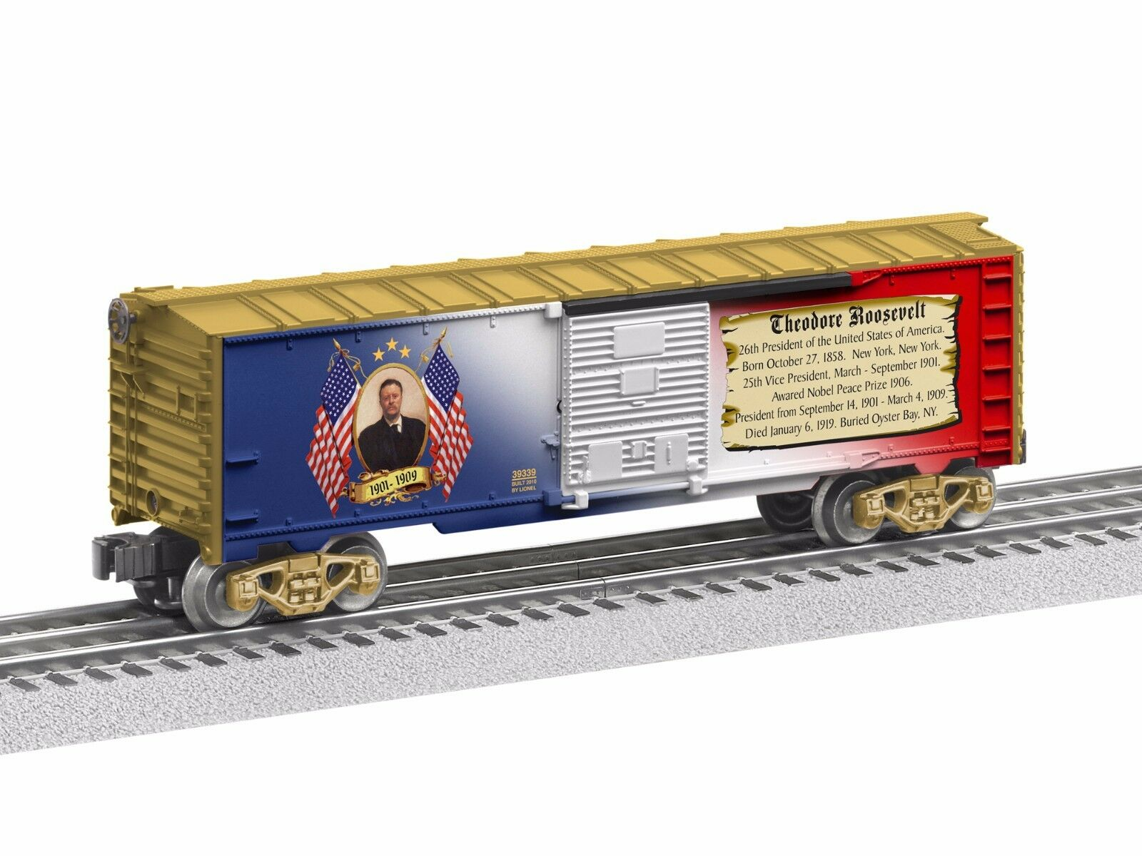 2012 6-39339 Theodore Roosevelt Boxcar free shipping made in the usa new in the