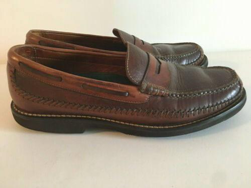 H.S. TRASK Men's Shoes Leather Buffalo Bison Penny
